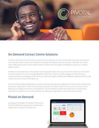 Pivotal On Demand brochure