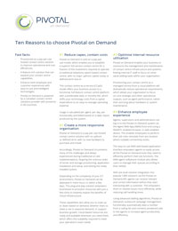 10 reasons to choose Pivotal on Demand